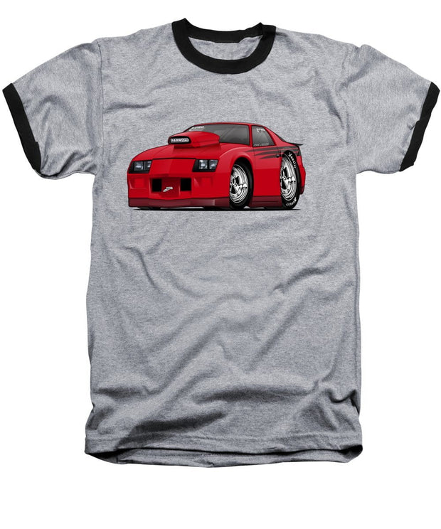 3rd Generation Camaro Drag Car - Baseball T-Shirt