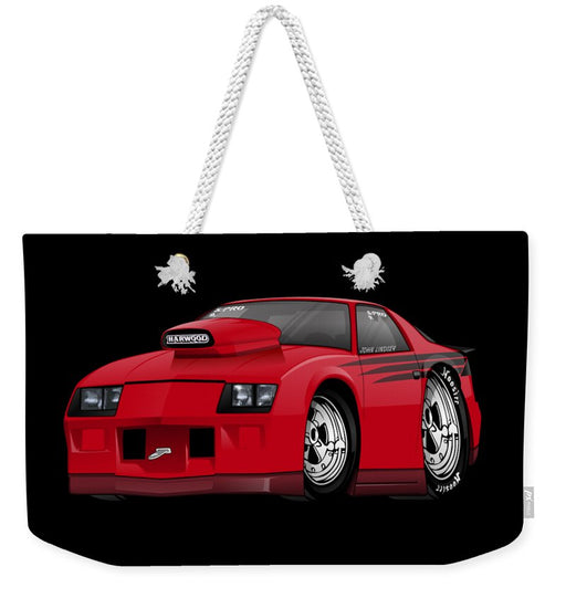 3rd Generation Camaro Drag Car - Weekender Tote Bag