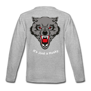 It's Just a Husky Kids' Premium Long Sleeve T-Shirt - heather gray