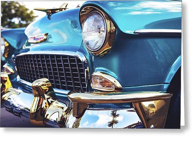 50's Chevy Blue - Greeting Card
