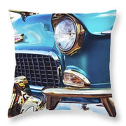 50's Chevy Blue - Throw Pillow