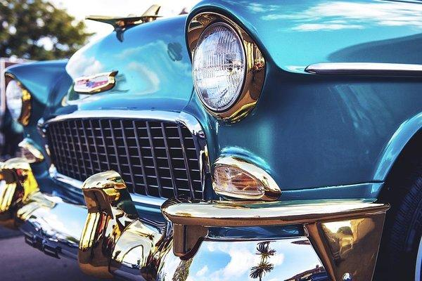 50's Chevy Blue - Art Print