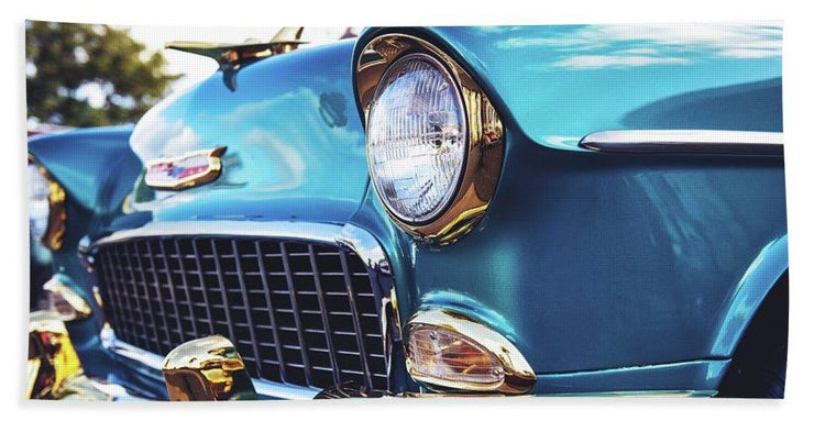 50's Chevy Blue - Beach Towel