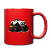 1972 GMC 4X4 Monster Pickup Truck Car Art Full Color Mug - red