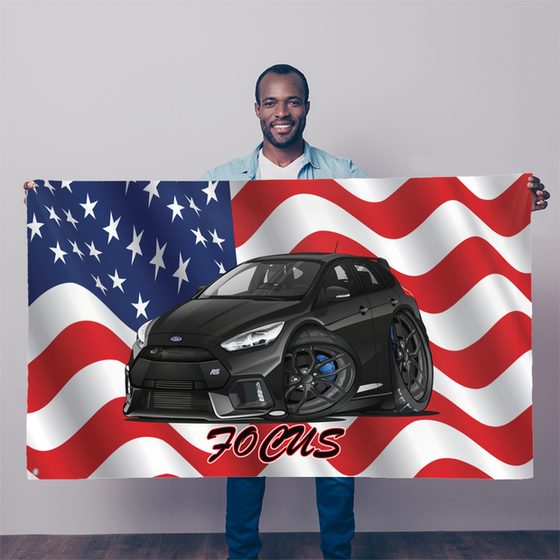 American Flag Ford Focus RS Sublimation Flag