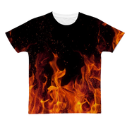 Orange Flames Classic Sublimation Adult T-Shirt
