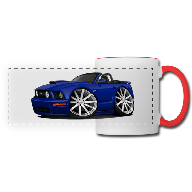 Ford Mustang Convertible Panoramic Mug - white/red