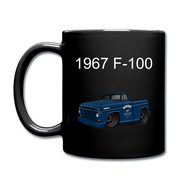1967 Blue Ford F-100 Full Color Mug - black