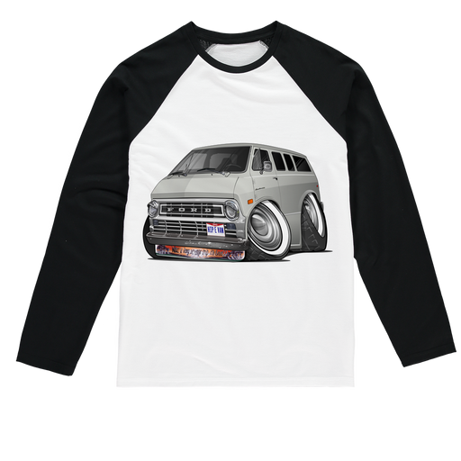 Ford Econoline Hip E Van Sublimation Baseball Long Sleeve T-Shirt