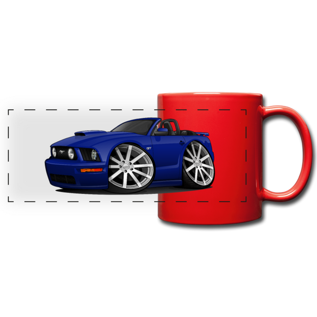 Ford Mustange Convertible Full Color Panoramic Mug - red