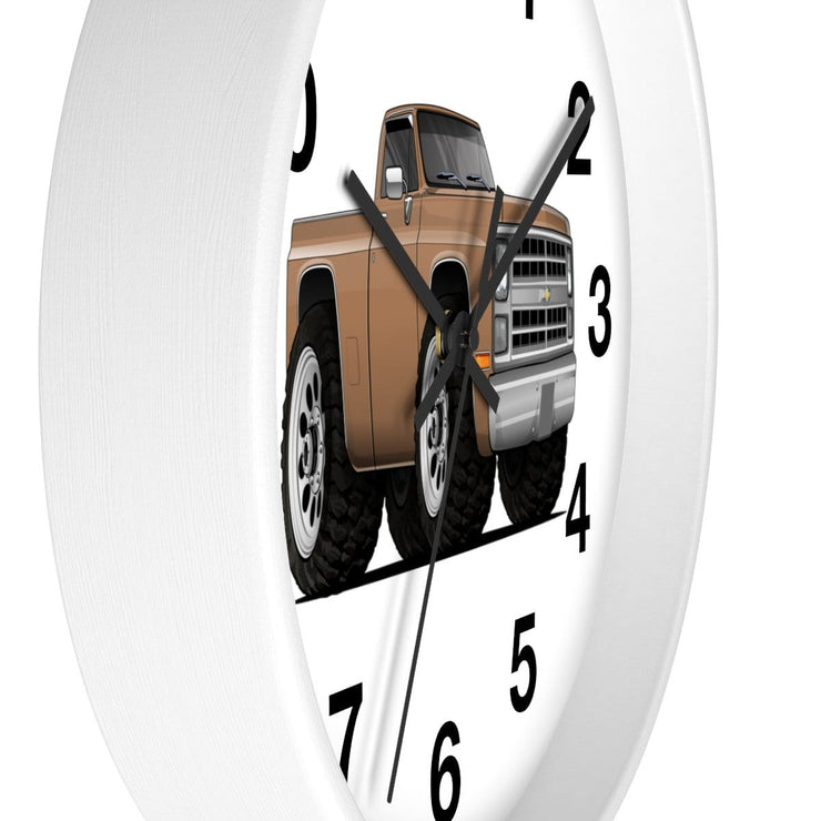 1986 Chevy 4X4 Truck Car Art Wall clock