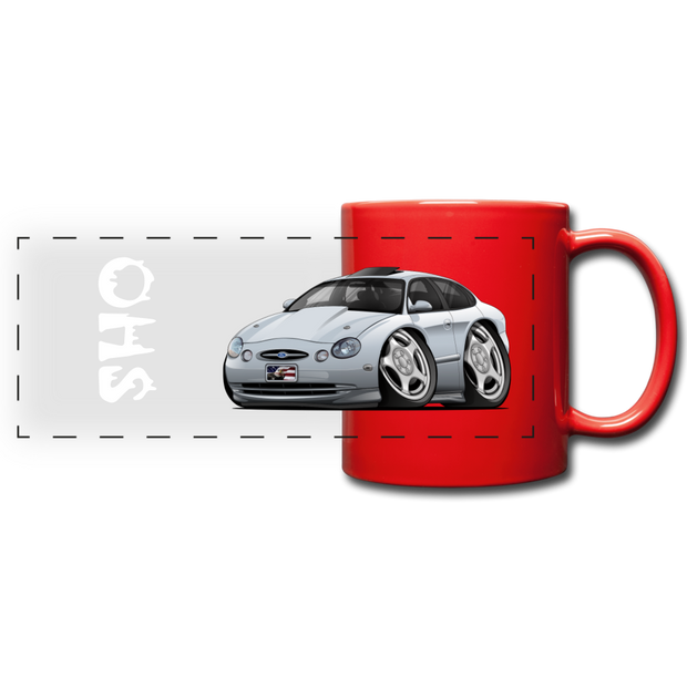 Ford Taurus SHO Car Art Full Color Panoramic Mug - red