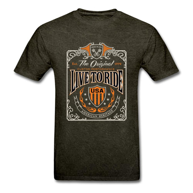 Live to Ride Men's T-Shirt - mineral black