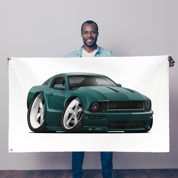 2008 Ford Mustang Sublimation Flag