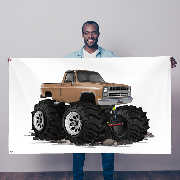 1986 Chevrolet 4x4 Pickup Truck Sublimation Flag