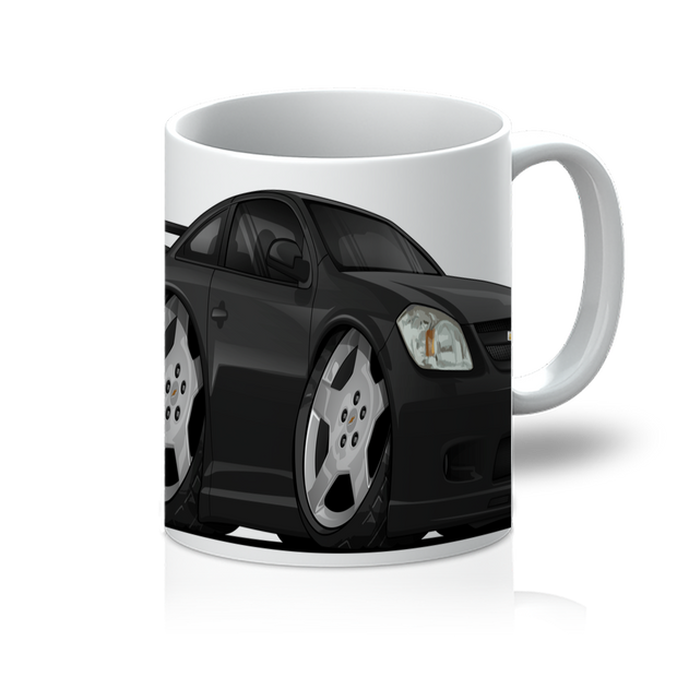 Black Cartoon Car Hot Rod 11oz Mug
