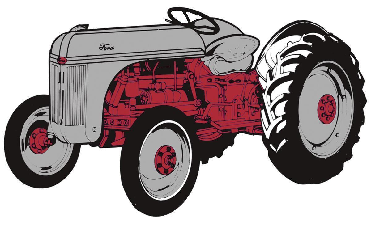 8n Ford Art : Ford n tractor decal let s print big
