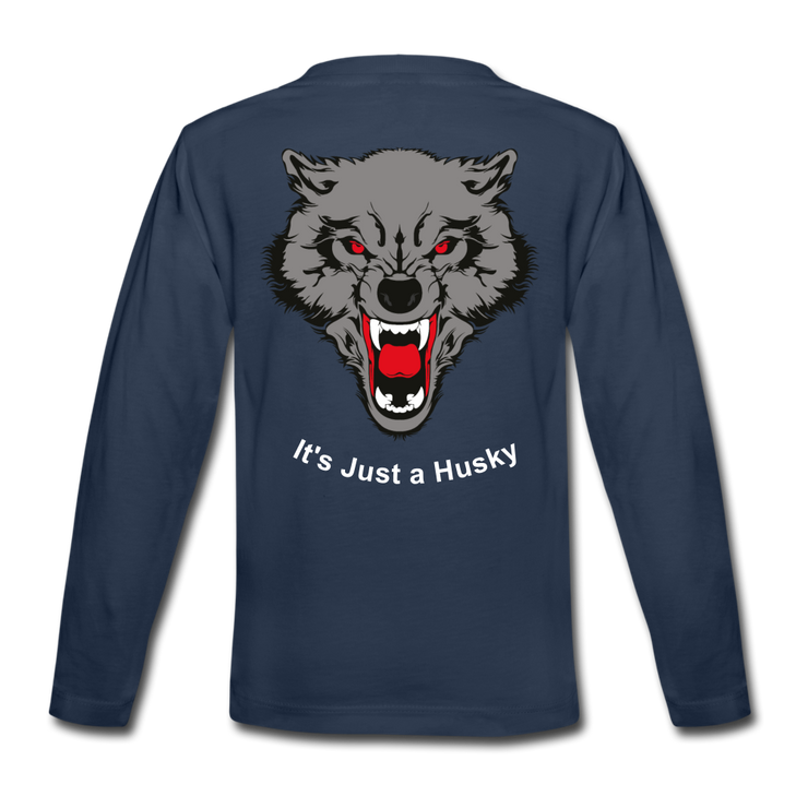 It's Just a Husky Kids' Premium Long Sleeve T-Shirt - navy
