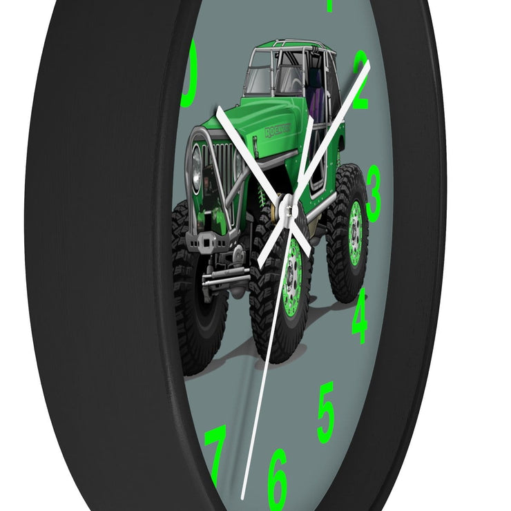 Jeep 4x4 Rocktoy Rock Climber Car Art Wall clock