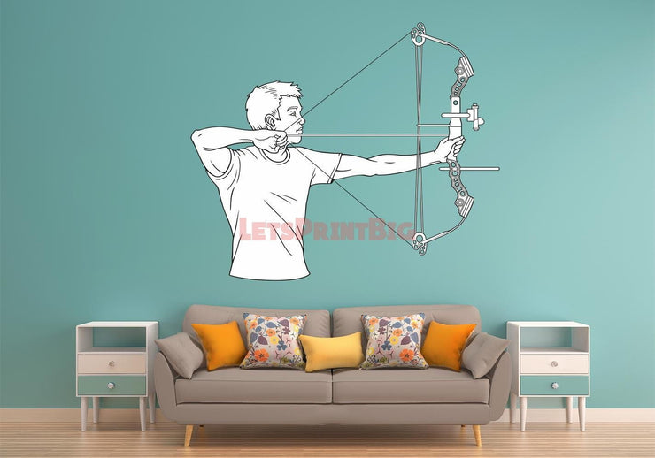 Archery Wall Decals - Let's Print Big