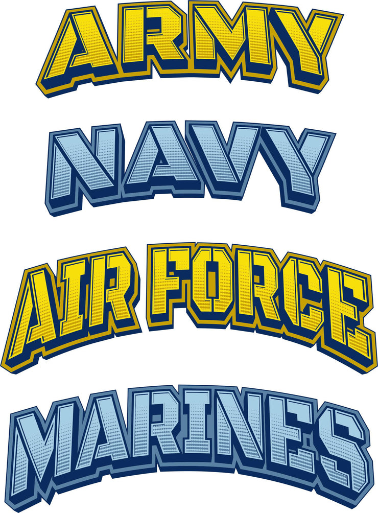 Army, Navy, Air Force, or Marines Decals Sticker - Let's Print Big
