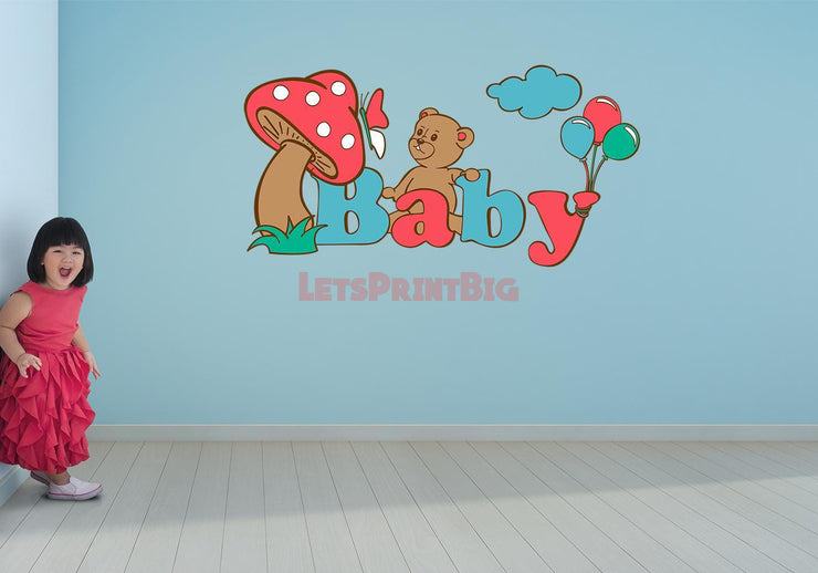Baby Letters Color Wall Decals - Let's Print Big