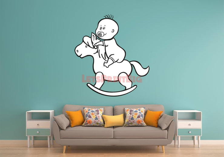 BABY Rocking Horse Wall Decals - Let's Print Big