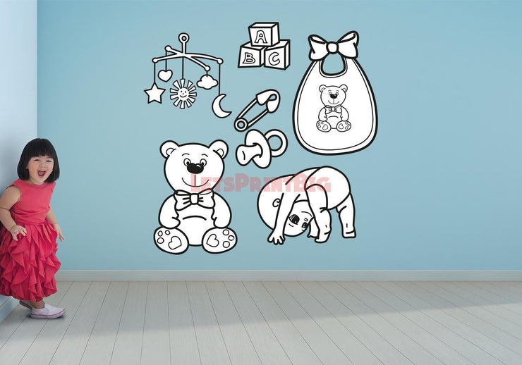 BABY TOYS Wall Decals - Let's Print Big