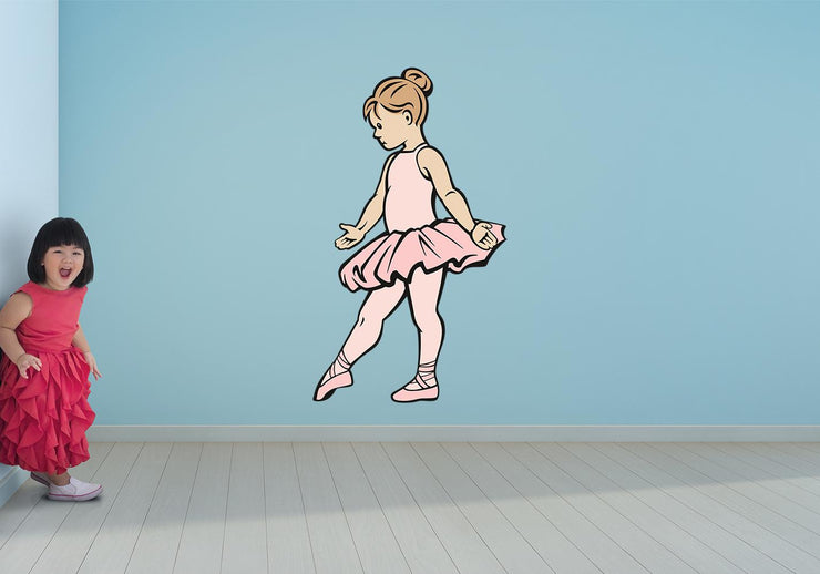 Ballet Girl Slippers Pointe Shoes Dancer Wall Art Decal Sticker - Let's Print Big