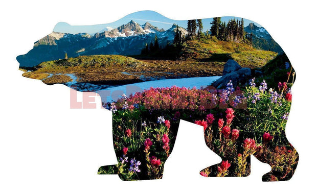 Bear Silhouette Montana Background Image Large Wall Decals