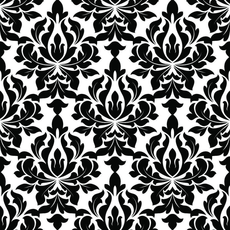 Wallpaper by the square foot Black and White Design Pattern - Let's Print Big
