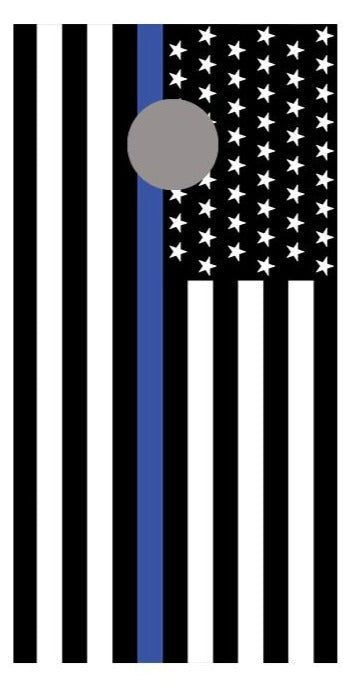 Thin Blue Line Cornhole American Flag Board Decal Wraps