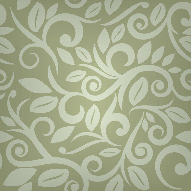 Wallpaper by the square foot Brown Flower Design Pattern - Let's Print Big
