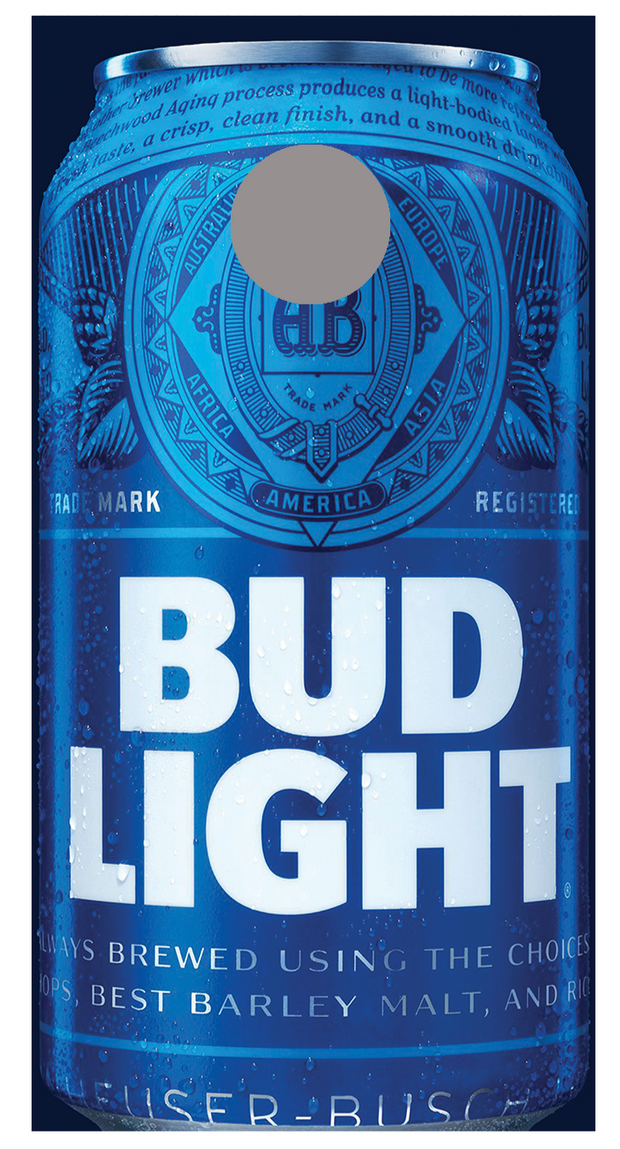Bud Light Cans corn hole board decal wraps