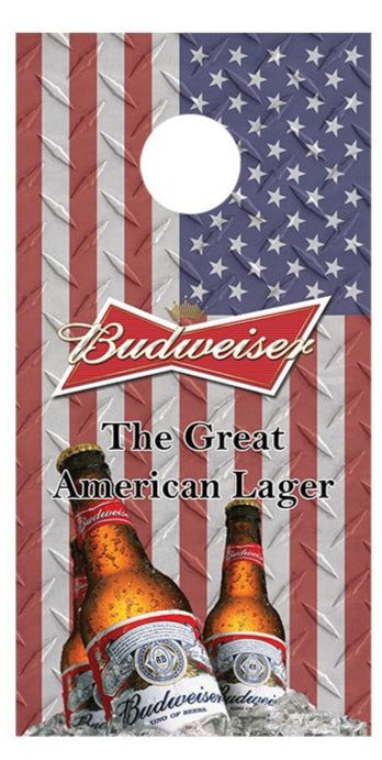 Budweiser Flag Bottle Design corn hole board decal wraps