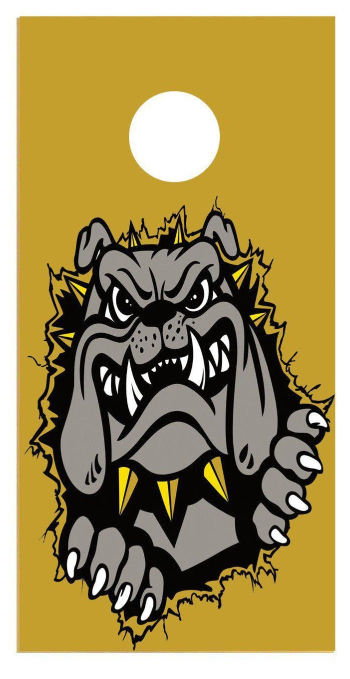 Bulldog Tearout Cornhole Board Decal Set - 2 Decals - Let's Print Big