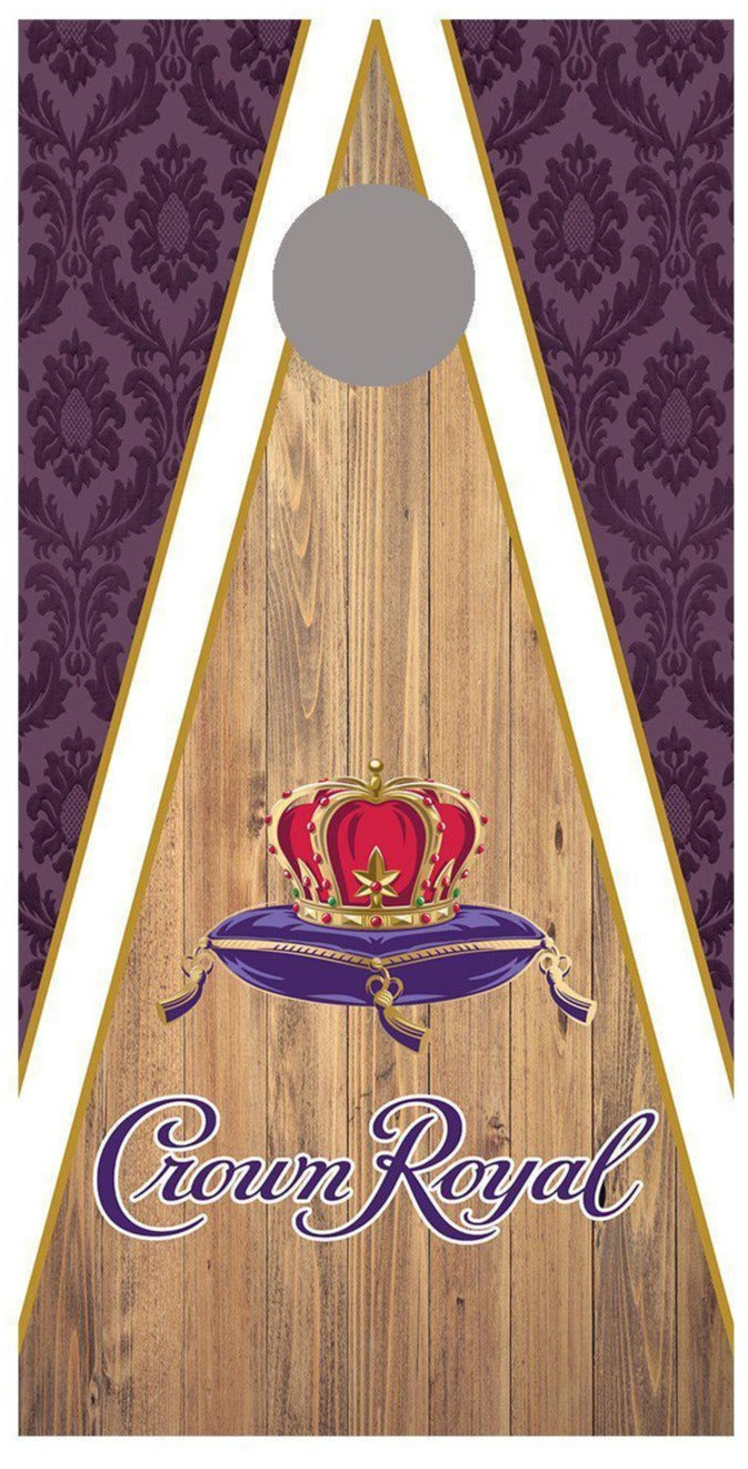 Crown Royal Design corn hole board decal wraps