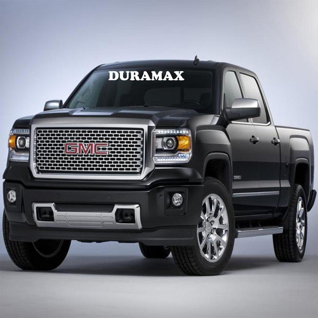 "Windshield Decal ""DURAMAX"" - Let's Print Big"