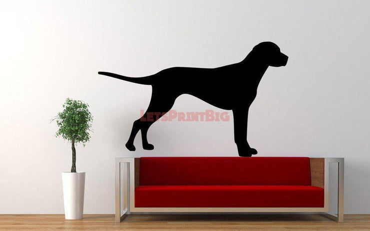 Dog Silhouette Wall Decals - Let's Print Big