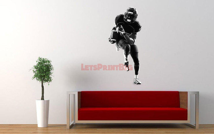 Football Player Wall Decals - Let's Print Big