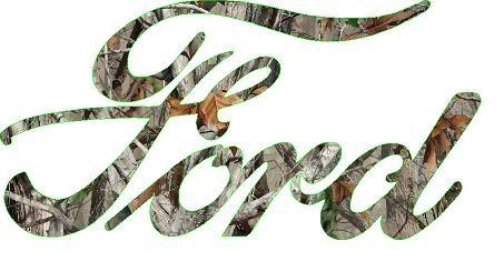 Ford Camo Letters color decal sticker - Let's Print Big