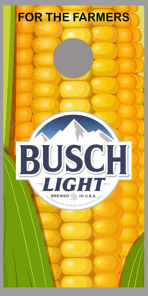 Busch Light For the Farmers Cornhole Board Decal Wrap