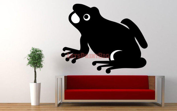 Frog Silhouette Wall Decals - Let's Print Big