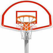 Wall Art Basketball Goal Front View Wall Decals Removable Repositionable Fathead style - Let's Print Big