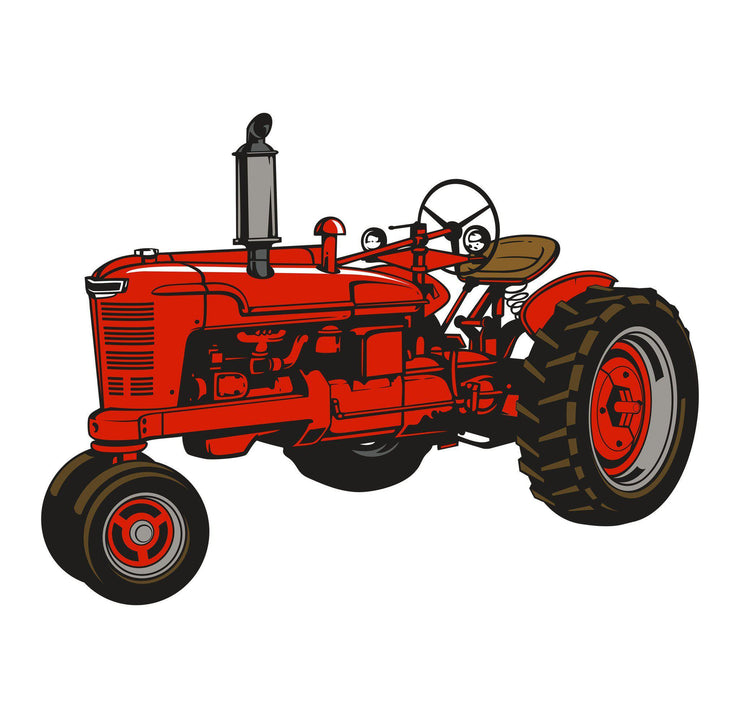 Old Farmall Tractor Decal M H - Let's Print Big