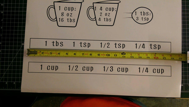 Jar Measurements Decals Labels Decal Kitchen Cabinet Door - Let's Print Big