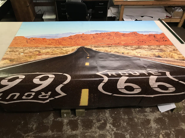 Route 66 Highway Image Custom Designed Wallpaper - Let's Print Big