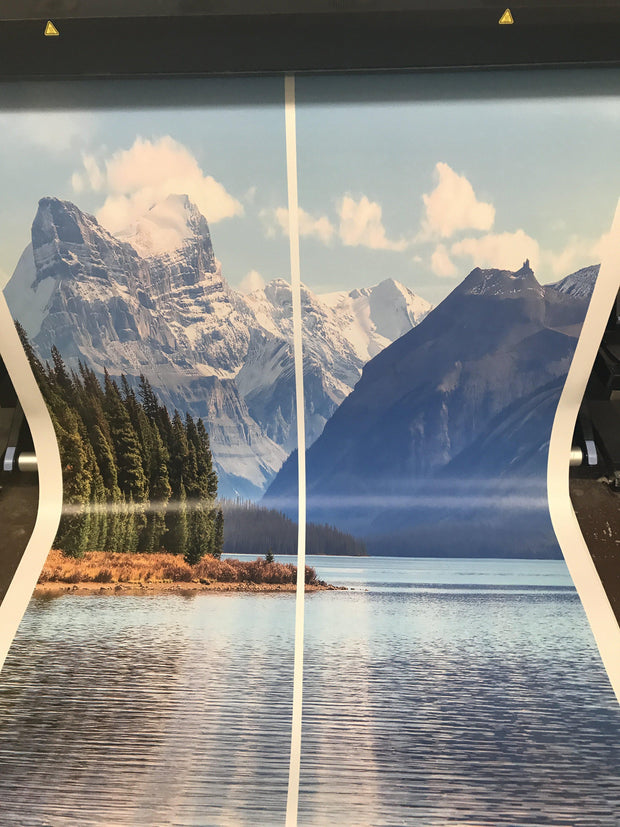 Maligne Lake Alberta Canada Mountain Landscape Custom Wallpaper Peel and Stick - Let's Print Big