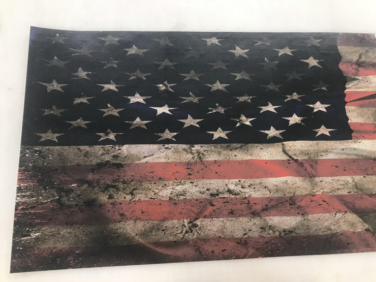 Rear Window Decals American Flag Weathered for truck Graphic