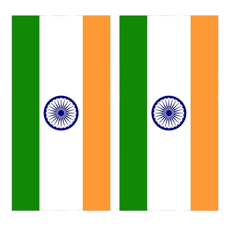 Flag of India Cornhole Board Decal Wraps